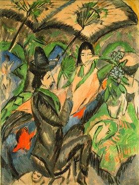 Ernst Ludwig Kirchner: Paar unter einem Japanschirm