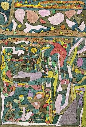 Paul Klee: Die Sonne, welche die Welt der Farben schon vorfindet, komplizierte Komp
