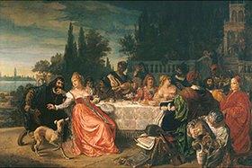 August Wolf: Festmahl auf der Insel Murano