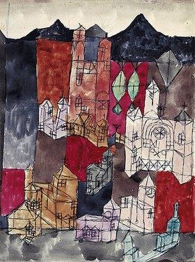 Paul Klee: Stadt der Kirchen (Kirchen am Berg)