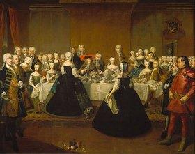 Schule Mytens (Meytens) d.J.: Festmahl anlässlich der Vermählung Maria Theresias