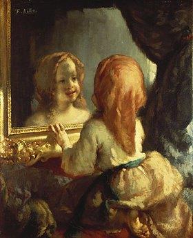 Jean-François Millet: Antoinette Herbert betrachtet sich im Spiegel