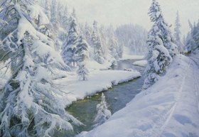 Peder Moensted: Winterlandschaft bei St. Moritz
