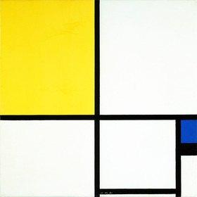 Piet Mondrian: Komposition mit Blau und Gelb