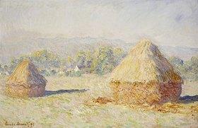 Claude Monet: Strohschober im Morgenlicht