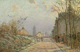 Camille Pissarro: Vorstadtstraße im Schnee
