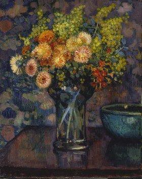 Theo van Rysselberghe: Glasvase mit Blumenstrauß