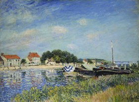 Alfred Sisley: Am Ufer des Flusses Loing in Saint-Mammes