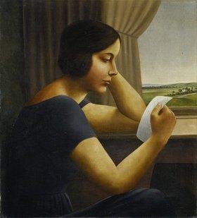 Georg Schrimpf: Martha, einen Brief lesend