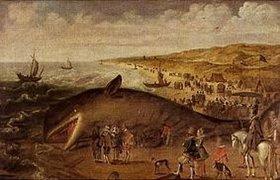 Esaias van de Velde: Ein Wal, 1617 zwischen Scheveningen und Katwijk gestrandet