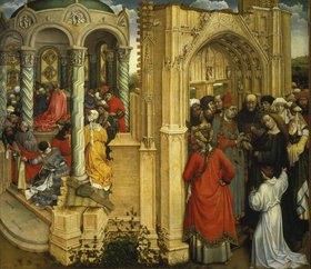 Meister von Flémalle (R.Campin): Die Hochzeit Mariae
