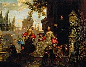 Jan van Kessel: Herrschaftliche Familie in einem Garten