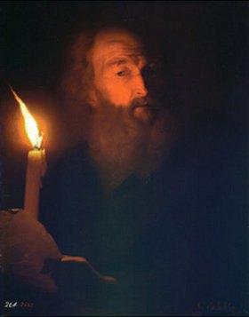 Godfried Schalcken: Bildnis eines bärtigen Mannes im Kerzenschein