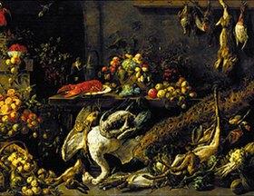 Adriaen van Utrecht: Großes Stilleben mit Früchten und Wild