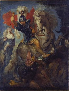 Peter Paul Rubens: Der heilige Georg zu Pferde