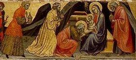 Taddeo di Bartolo: Die Anbetung der Könige. Detail Mitte