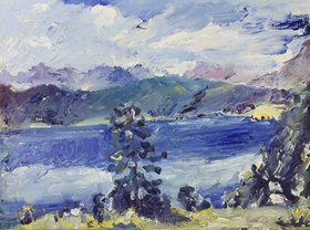 Lovis Corinth: Walchensee mit Lärche