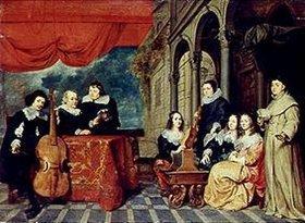 Gonzales Coques: Die Familie James van Eyck