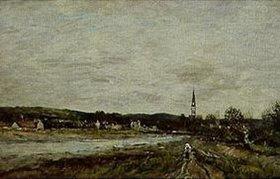 Eugène Boudin: Stadt an einem Fluss