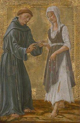 Il Vecchietta (P.di Lorenzo): Der hl.Franziskus vermählt sich der Armut