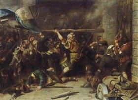 Franz von Defregger: Die Erstürmung des Roten Tores (oder: Der Schmied von Kochel)