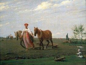 Alexei Wenezianow: Auf dem Acker (Frühling). 20er Jahre des 19,Jahrhunderts