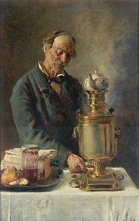 Konstantin Jegor Makovskij: Teetrinker am Samowar