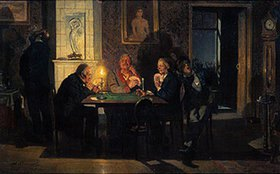 Viktor Michailow Wasnezow: Preferenz. Beim Kartenspiel