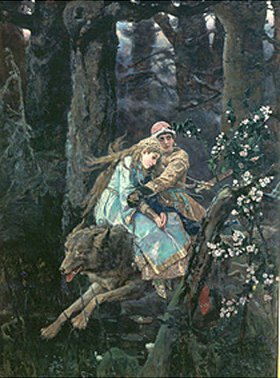 Viktor Michailow Wasnezow: Iwan Zarewitsch auf dem grauen Wolf