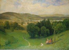 Hans Thoma: Offenes Tal (Landschaft)