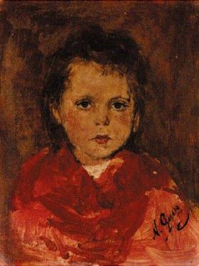 Nikolaus Gysis: Kopf eines Kindes