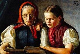 Hans Thoma: Mutter und Schwester des Künstlers