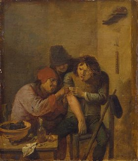 Adriaen Brouwer: Das Gefühl (Der Dorfchirurg)