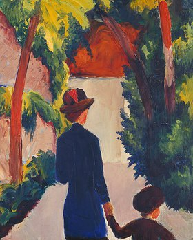 August Macke: Mutter und Kind im Park