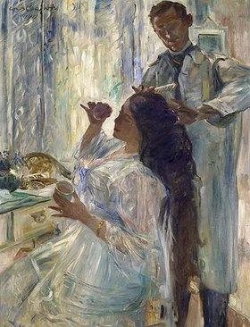 Lovis Corinth: Die Frau des Künstlers am Frisiertisch