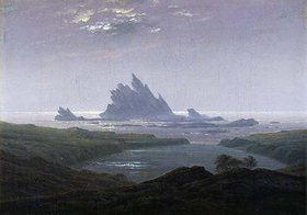 Caspar David Friedrich: Felsenriff am Meeresstrand