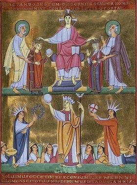 Handschrift: Perikopenbuch Heinrichs II. um 1007: Krönung Heinrichs II. und Kunigundes