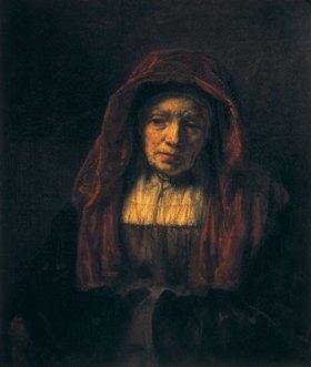 Rembrandt van Rijn: Bildnis einer alten Frau (der Mutter des Künstlers?)