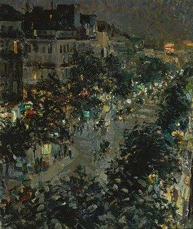 Alexejew. Konstantin Korovin: Der Boulevard des Italiens in Paris bei Nacht