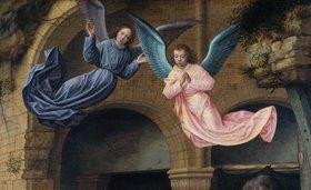 Gerard David: Zwei Engel, Detail aus der Anbetung der Könige