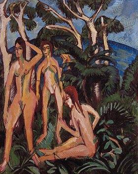 Ernst Ludwig Kirchner: Badende unter Bäumen