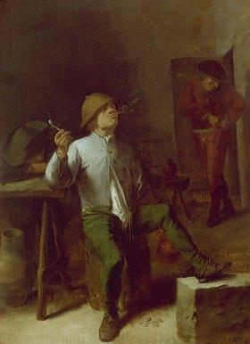 Adriaen Brouwer: Pfeife rauchender Bauer
