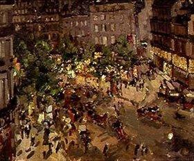 Alexejew. Konstantin Korovin: Nächtlicher Platz in Paris
