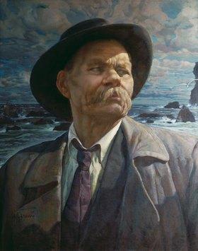 Isaak Brodskij: Portrait von A.M.Gorki