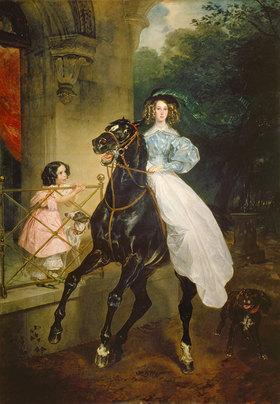 Karl Brüllow: Reiterin. Bildnis der Giovannina Paccini