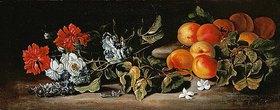 Abraham Brueghel: Aprikosen und Blumenzweige