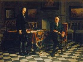 Nikolai Gay: Peter I. verhört den Zarewitsch Alexei Petrowitsch in Peterhof