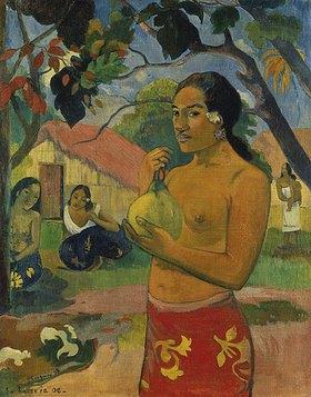 Paul Gauguin: Frau, die eine Frucht hält (Wohin gehst Du?)