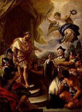 Paolo de Matteis: Der hl.Nepomuk vor König Wenzeslaus