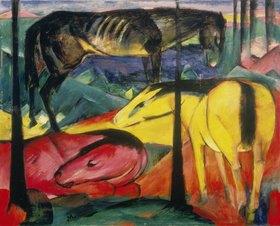 Franz Marc: Die drei Pferde